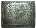 Officers Eagle Plate Belt Buckle + display stand. Code ZG4